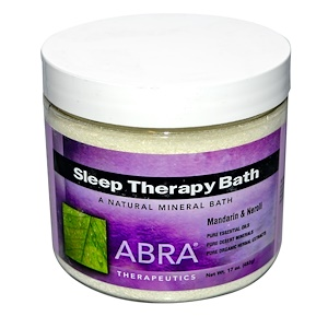 Абра Терапьютикс, Sleep Therapy Bath, Mandarin & Neroli, 17 oz (482 g) отзывы покупателей