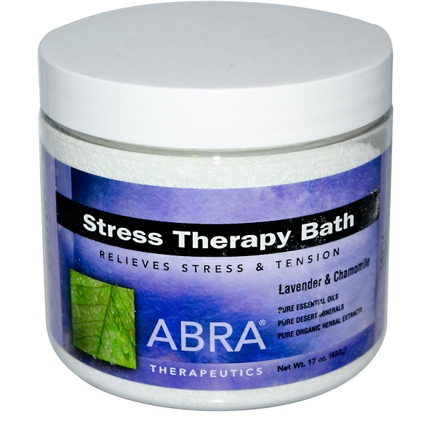 Abra Therapeutics, Bain thérapeutique contre le stress, lavande et camomille, 17 oz (482 g) (Discontinued Item)