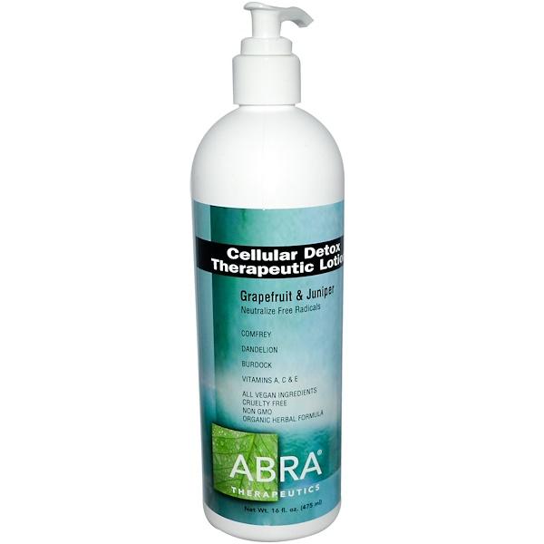 Abra Therapeutics, Cellular Detox Therapeutic Lotion, Grapefruit & Juniper, 16 fl oz (475 ml)