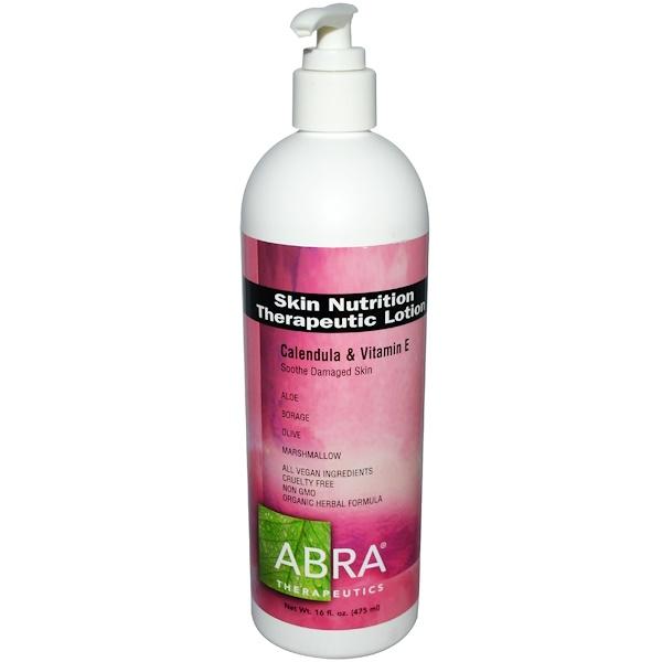 Abra Therapeutics, Лечебный питательный лосьон для кожи, календула и витамин Е, 16 жидких унций (475 мл) (Discontinued Item)