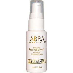 Abra Therapeutics, Органическая сыворотка PhytoSerum, Cellular Gold, 1 жидкая унция (30 мл)