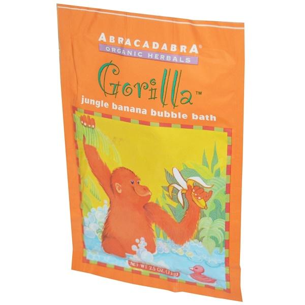 Abra Therapeutics, Gorilla ジャングルバナナ バブルバス、2.5 オンス (71 g) (Discontinued Item)