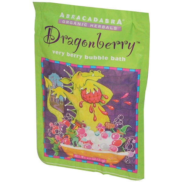 Abra Therapeutics, Dragonberry Very Berry Bubble Bath, 2.5 oz (71 g) (Discontinued Item)