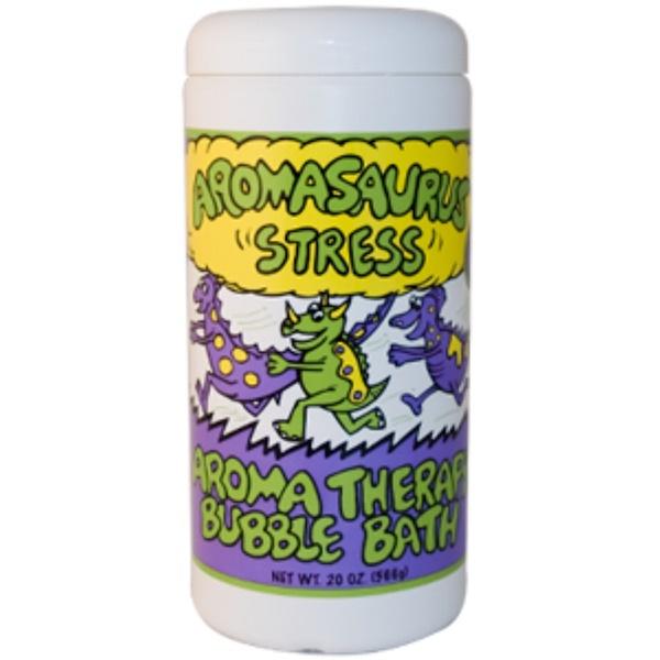 "Abra Therapeutics, Aromasaurus ""Stress"", Aromatherapy Bubble Bath, 20 oz (566 g) (Discontinued Item)"