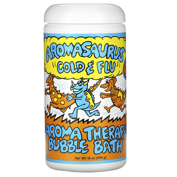 Aromasaurus Cold & Flu, Aroma Therapy Bubble Bath, 16 oz (453 g)