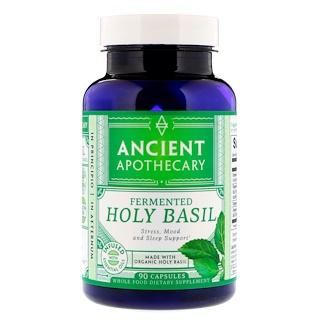 Ancient Apothecary, 発酵ホーリーバジル、カプセル 90錠