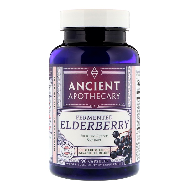 Ancient Apothecary, Fermented Elderberry, 90 Capsules (Discontinued Item)