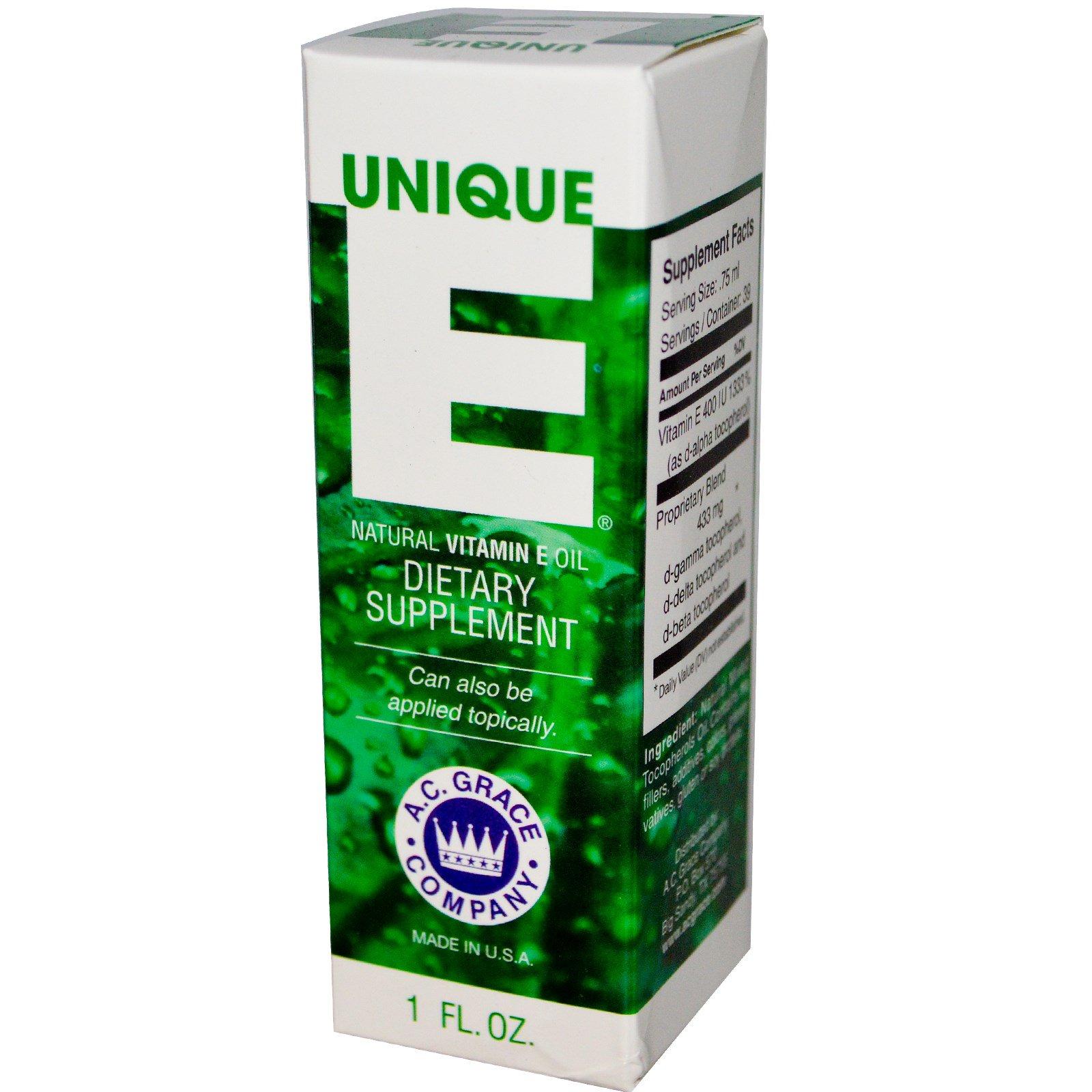 A C Grace Company Unique E Natural Vitamin E Oil 1 Fl Oz Iherb Com