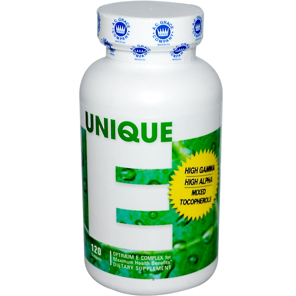 Unique E, 120 Softgels