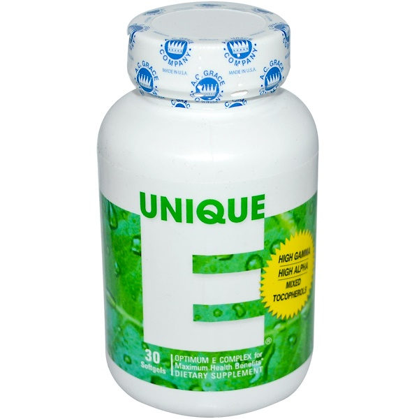 Unique E, 30 Softgels
