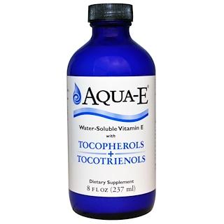 A.C. Grace Company, アクア-E、 水溶性 ビタミンE、トコフェロール + トコトリエノール、 8 fl oz (237 ml)