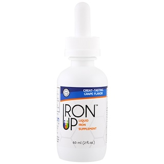 A.C. Grace Company, Iron Up, Liquid Iron Supplement, Grape Flavor, 2 fl oz (60 ml)