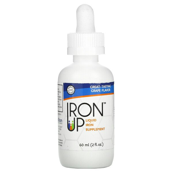 A.C. Grace Company, Iron Up, Liquid Iron Supplement, Grape , 2 fl oz (60 ml)