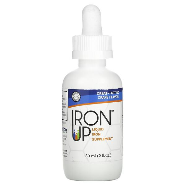 Iron Up, Liquid Iron Supplement, Grape Flavor, 2 fl oz (60 ml)