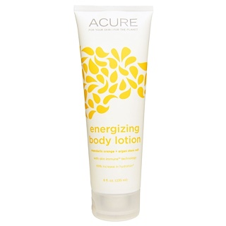 Acure Organics, Energizing Body Lotion, Mandarin Orange + Argan Stem Cell, 8 fl oz (235 ml)