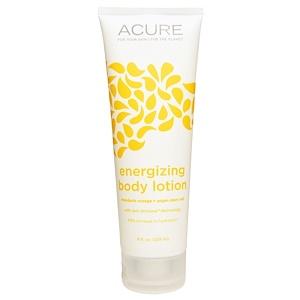 Acure Organics, Тонизирующий лосьон для тела, мандарин + стволовые клетки аргании, 8 жидких унций (235 мл) инструкция, применение, состав, противопоказания