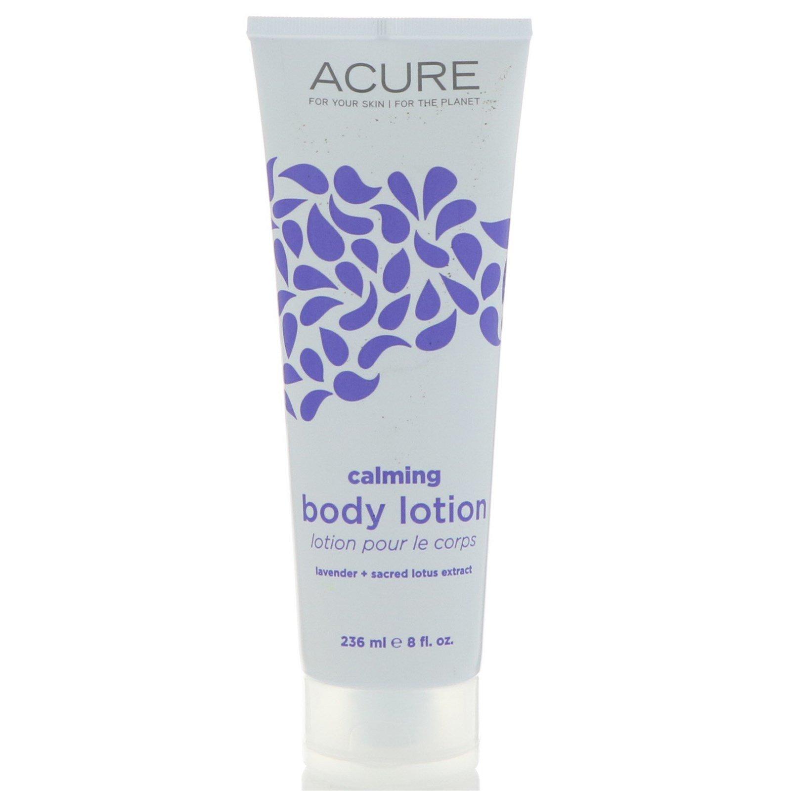 Acure Organics, Успокаивающий лосьон для тела, лаванда + экстракт лотоса, 8 ж. унц.(236 мл)