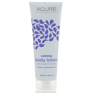 Acure Organics, Calming Body Lotion, Lavender + Sacred Lotus Extract, 8 fl oz (236 ml)