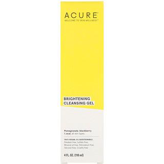 Acure, لمعان فائق، جل التنظيف، 4 أونصة سائلة (118 مل)