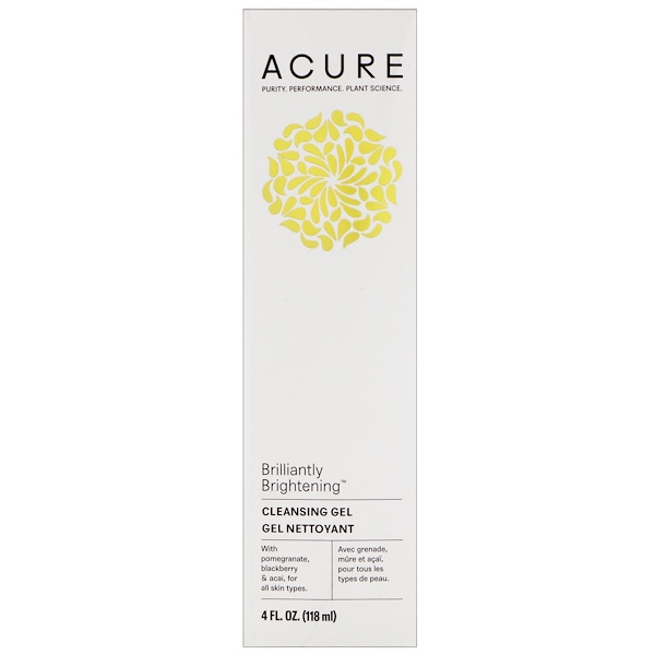 Acure Organics, Brilliantly Brightening, Cleansing Gel, 4 fl oz (118 ml)