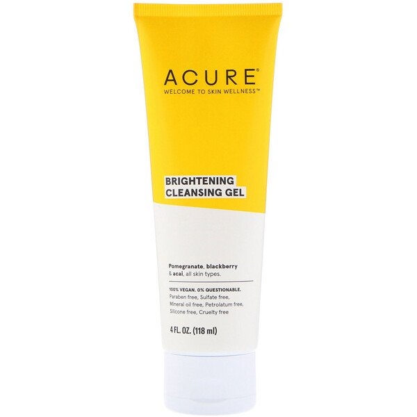 Acure, Gel de limpieza Brillantly Brightening, 4 fl oz (118 ml)