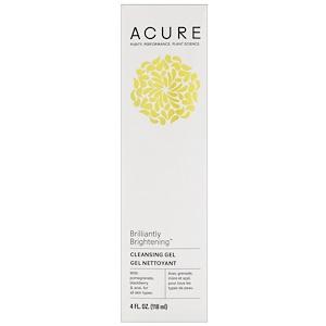 Acure Organics, Очищающий крем для лица, суперфрукты + хлорелла, 4 унции (118 мл) инструкция, применение, состав, противопоказания