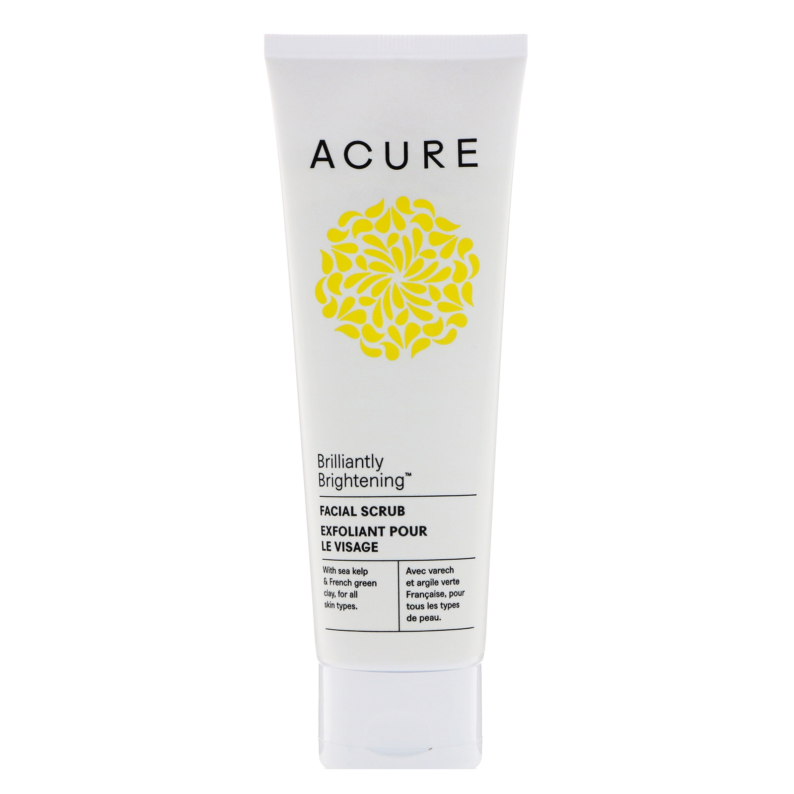Acure Organics, Brilliantly Brightening, Facial Scrub, 4