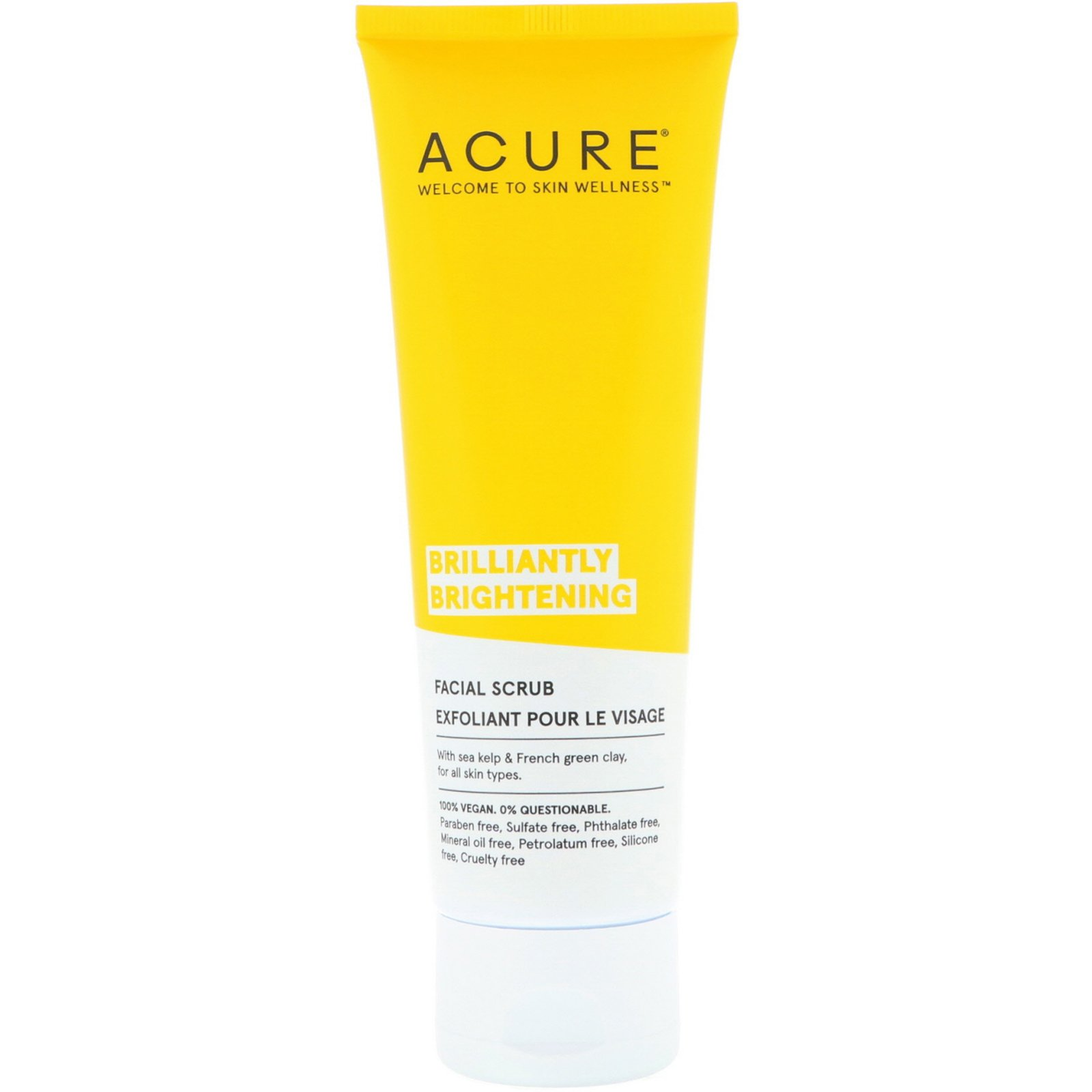 Acure, Brilliantly Brightening, Facial Scrub, 4 Fl Oz (118