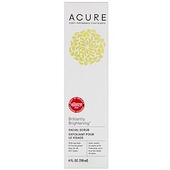 Acure Organics, Brilliantly Brightening, Facial Scrub, 4 fl oz (118 ml)