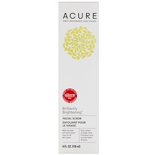 Acure Organics, Brilliantly Brightening, Facial Scrub, 4 fl oz (118 ml)