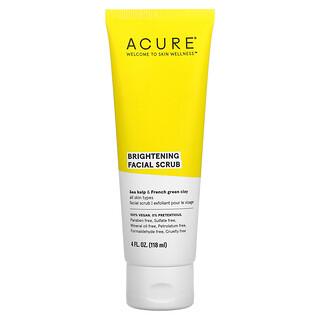 Acure, Brightening Facial Scrub, 4 fl oz (118 ml)