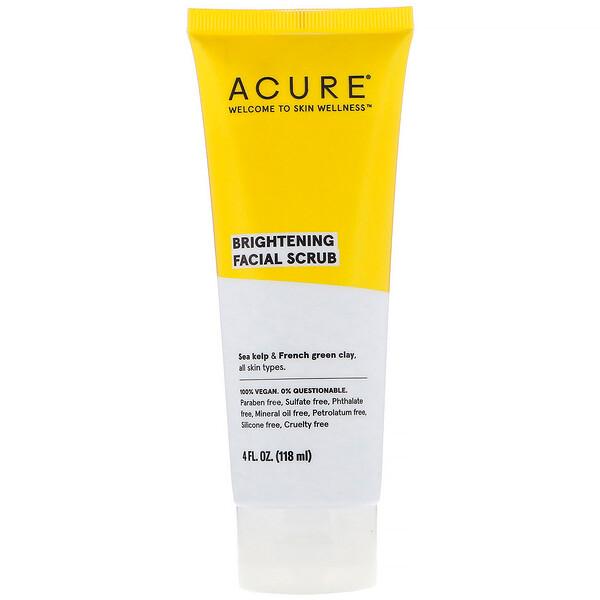 Brightening Facial Scrub, 4 fl oz (118 ml)
