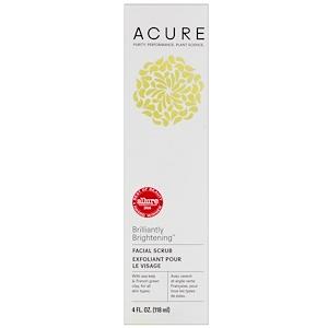 Acure Organics, Очищающий скраб для лица, 4 жидкие унции (118 мл)