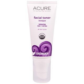 Acure Organics, 페이셜 토너, 밸런싱 로즈 + 레드 티, 3 fl oz (88.7 ml)