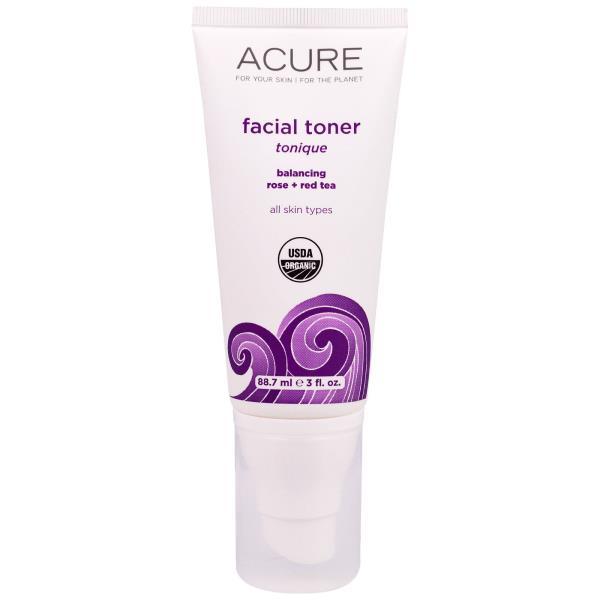 Acure Organics, バラと紅茶を調合した顔用化粧水88.7ml