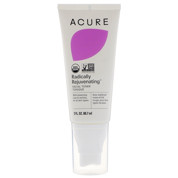 Acure, Radically Rejuvenating, Facial Toner, 3 fl oz (88.7 ml) (Discontinued Item)