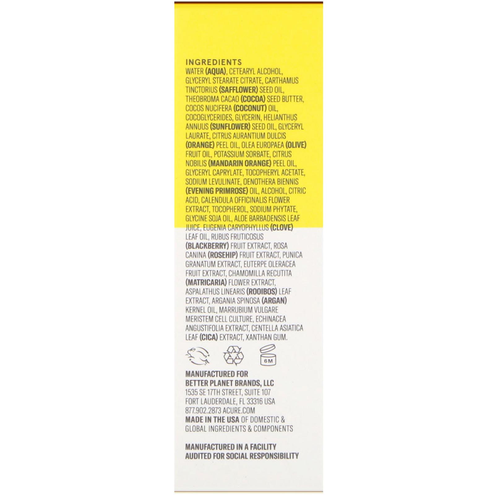 Acure, Brightening Day Cream, All Skin Types, 1.7 Fl Oz