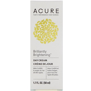 Acure Organics, Brilliantly Brightening, дневной крем, 1,7 ж. унц. (50 мл)