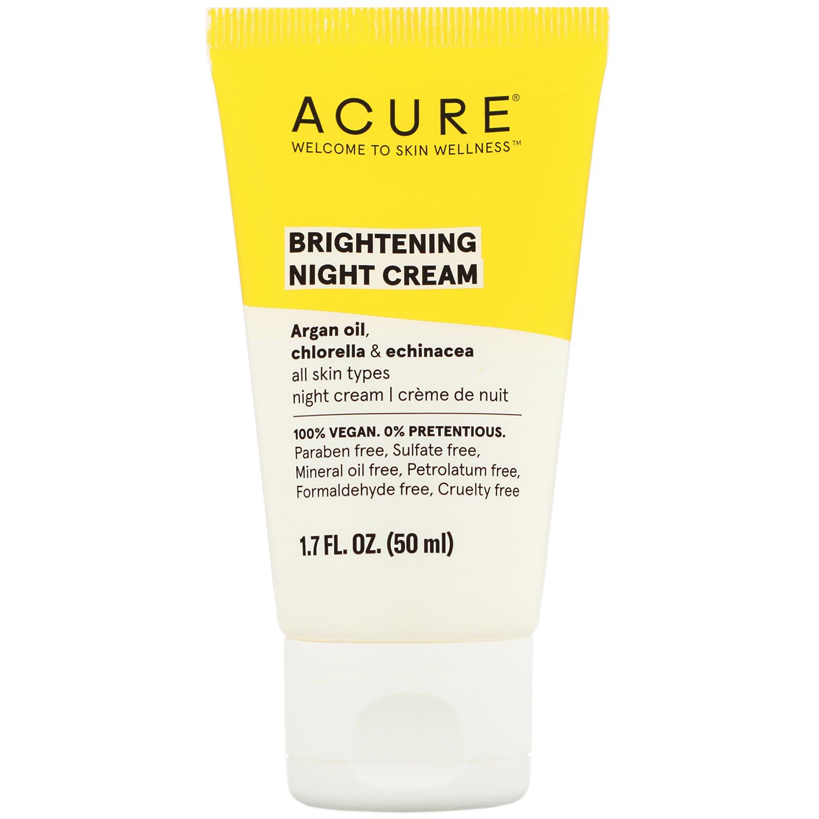 Acure Organics Brilliantly Brightening Night Cream 1 7 Fl