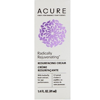 Acure Organics, Radically Rejuvenating, Resurfacing Cream , 1.4 fl oz (41 ml)