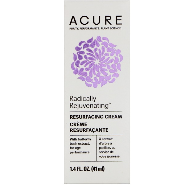 Acure, Radically Rejuvenating, Resurfacing Cream , 1.4 fl oz (41 ml) (Discontinued Item)
