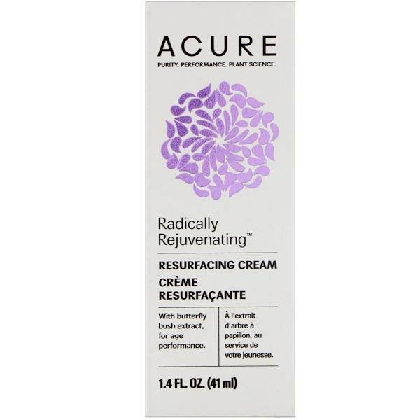 Acure, Radically Rejuvenating, Resurfacing Cream , 1.4 fl oz (41 ml) (Discontinued Item)