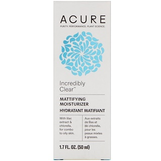 Acure Organics, Incredibly Clear, Mattifying Moisturizer, 1.7 fl oz (50 ml)