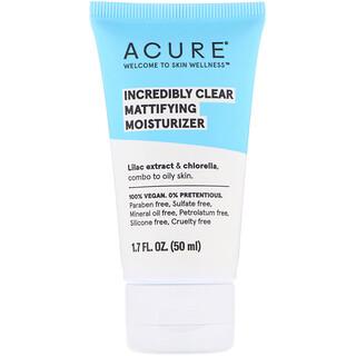 Acure, Невероятно чистый, матирующий увлажняющий крем, 50мл (1,7жидк. унции)