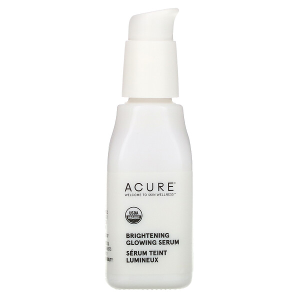 Acure, Suero brillante, Brilliantly Brightening, 1 oz líquida (30 ml)