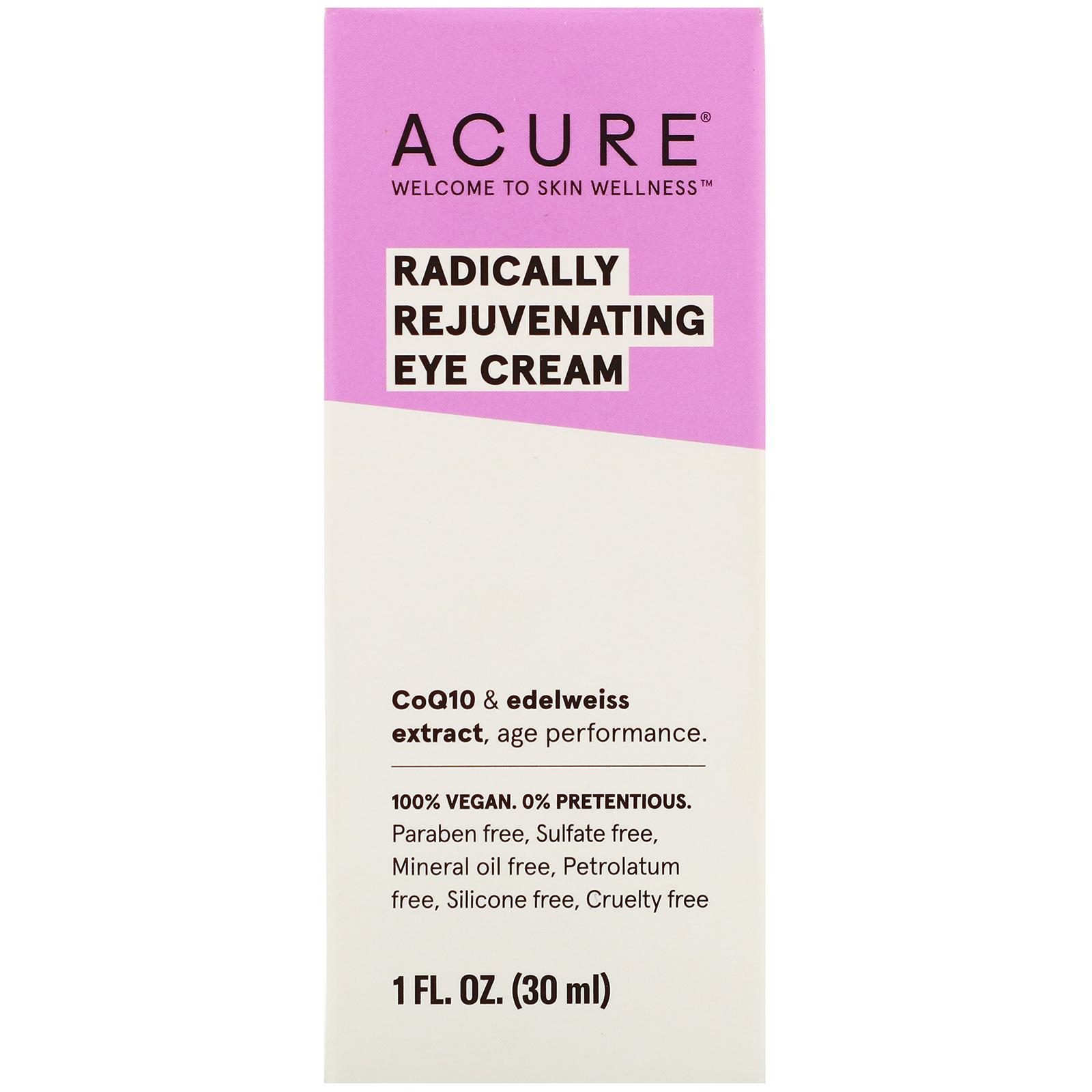 Acure, Radically Rejuvenating Eye Cream, 1 Fl Oz (30 Ml