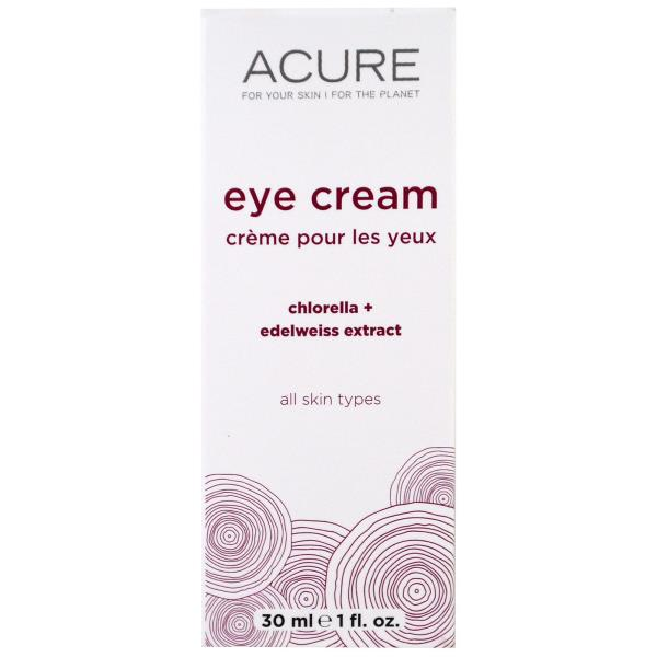 Acure Organics, Eye Cream, Chlorella + Edelweiss Extract, 1 fl oz (30 ml)