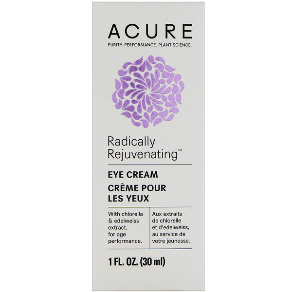 Acure Organics, Radically Rejuvenating, Eye Cream, 1 fl oz (30 ml)