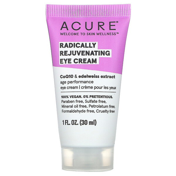 Acure, Radically Rejuvenating Eye Cream, 1 fl oz (30 ml)