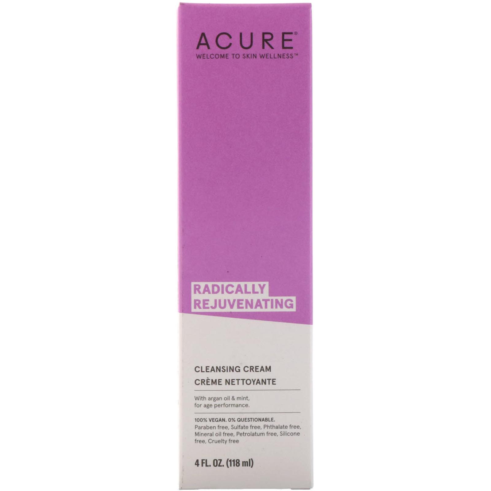Acure, Radically Rejuvenating, Cleansing Cream, 4 Fl Oz